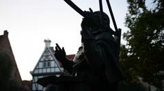 Monument to Jan Heweliusz in Gdansk Stock Footage