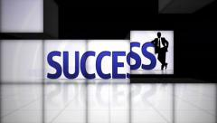Stock Video Footage of Success Text in Falling Cubes, with Green Screen, Loop