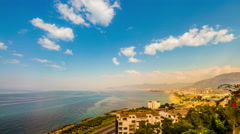 Stock Video Footage of Alanya Turkey coast landscape