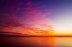 Sunset beach sea sky clouds backgrounds Stock Footage