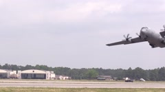 BASE CHARLSTON, MAY 2015, US Air Force. A C 17 Hercules Aircraft starts from - stock footage