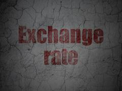 Money concept: Exchange Rate on grunge wall background Stock Illustration