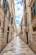 Architecture in the old town of Dubronik, Croatia - stock photo