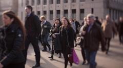 London Commuters Stock Footage