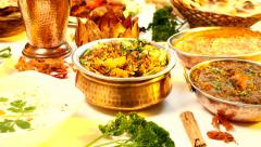 Indian Food Spread - North Indian Stock Footage