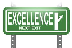 Excellence green sign board isolated - stock illustration