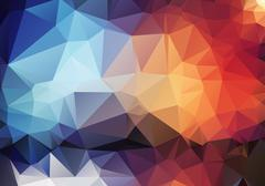 Colorful pattern of angular geometric shapes Stock Illustration