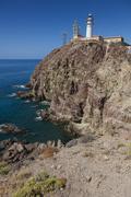 Cabo de Gata Lighthouse, Cabo de Gata-Nijar Natural Park, Almeria, Spain Stock Photos