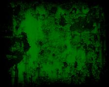 Dark green grunge rusty metal wall background or texture Stock Photos