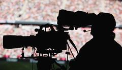 Cameraman stadium Stock Photos