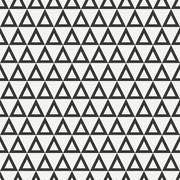 Stock Illustration of Geometric line monochrome abstract hipster seamless pattern with triangle