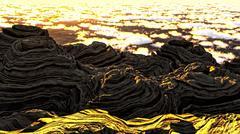 Stock Illustration of Alien planet scenery