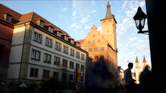 Downtown of Würzburg, Germany (timelapse) Stock Footage