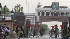 SLOW MOTION Wagah border ceremony,Wagah,India - stock footage
