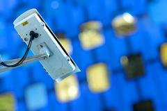 Security camera and urban video Stock Photos