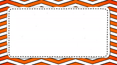Orange Stripes Zig-Zag White Rectangle Shape Background For Text Stock Footage