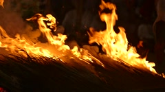 Firewalking ceremony Stock Footage