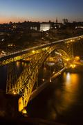 Dom Luis I Bridge, Porto, Portugal Stock Photos