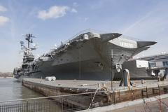 USS Intrepid in United States - stock photo