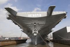 USS Intrepid in New York - stock photo