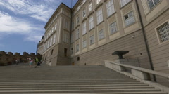 View of the Castle Stairs in Prague Stock Footage