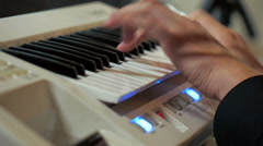 Music Instrument Keyboard Piano Playing Hands Stock Footage