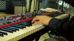 Music Playing Hands On Music Instrument Keyboard Stock Footage