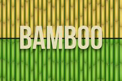 Stock Illustration of Bamboo background set