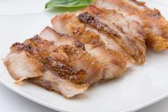 Charcoal-boiled pork neck - stock photo