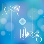 Happy Holidays vector illustration for holiday design, party poster, greeting Stock Illustration