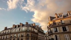 Classic French Buildings Timelapse Stock Footage