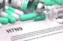 H7N9 Diagnosis. Medical Concept Stock Illustration