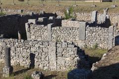 Ruins of Clunia, Peñalba de Castro, Burgos, Castilla y Leon, Spain Stock Photos