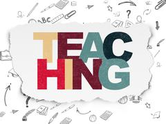 Education concept: Teaching on Torn Paper background - stock illustration