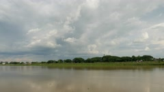 TIMELAPSE Rainy season clouds over moon river,Ubon Ratchathani,Thailand - stock footage