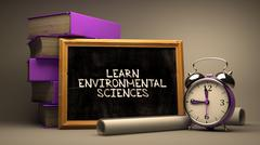 Learn Environmental Sciences. Chalkboard Stock Illustration