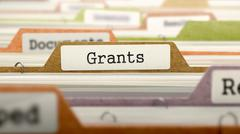 Grants - Folder Name in Directory - stock illustration