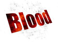 Medicine concept: Blood on Digital background Piirros