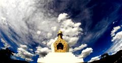 Medicine Buddha Stupa time lapse No.1 Stock Footage