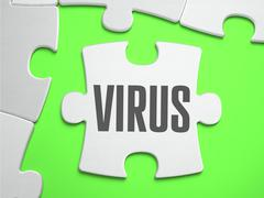 Virus - Jigsaw Puzzle with Missing Pieces Stock Illustration