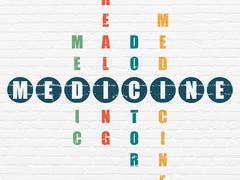 Healthcare concept: Medicine in Crossword Puzzle Stock Illustration