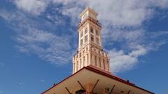 TIMELAPSE clouds over Menara Jam Tambatan,Kota Bharu,Malaysia Stock Footage