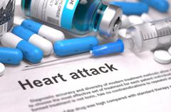 Heart Attack Diagnosis. Medical Concept Stock Illustration