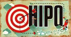 HiPo Concept. Poster in Flat Design Stock Illustration
