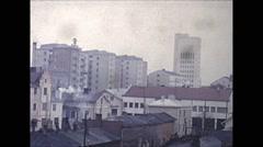 Vintage 16mm film, 1959, Finland, Helsinki skyline Arkistovideo