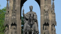Beautiful monument of Francis I in the Old Town of Prague Stock Footage