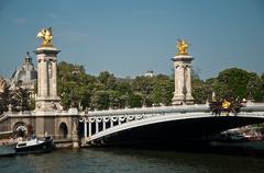 Alexandre III Bridge in Paris Stock Photos