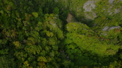 Aerial View of Emerald Cave (Morakot Cave)  Stock Footage