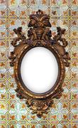 Brass Baroque Frame - stock photo