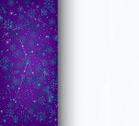 Snowflakes background letterhead Christmas New Year - stock illustration